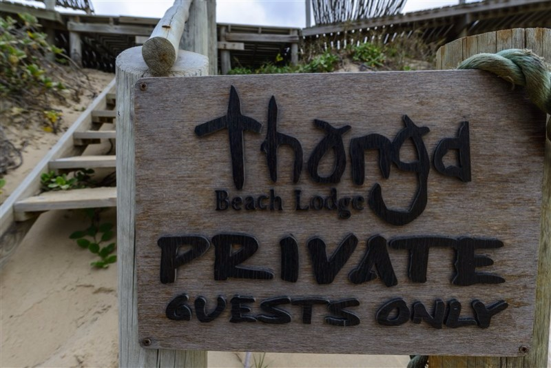 Thonga-Beach-Lodge-private-sign