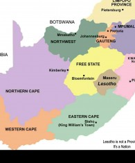 SA nine provinces map