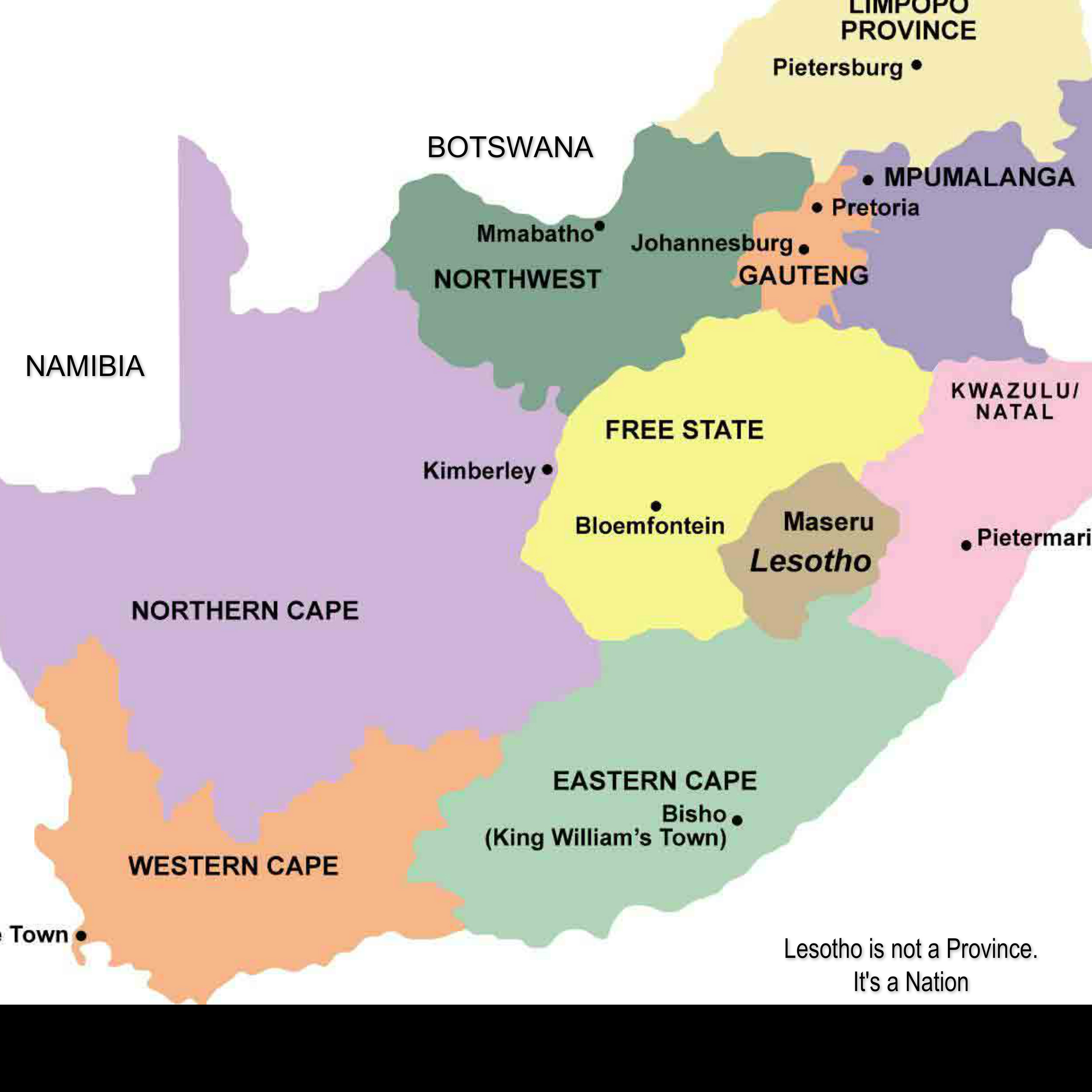 Map Of South Africa Showing 9 Provinces.The Nine Provinces Of South Africa Safari Destinations