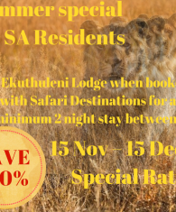 Ekuthuleni November Special Rate