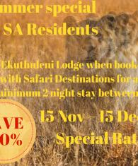 Ekuthuleni November Special Rate