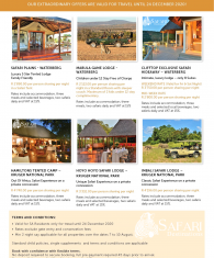 SA Resident SAFARI Deals